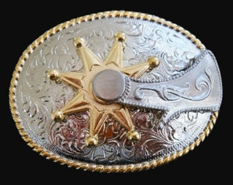 Western Spur Belt Buckles Spinning Rodeo Cowboys Cowgirls Buckles Belts