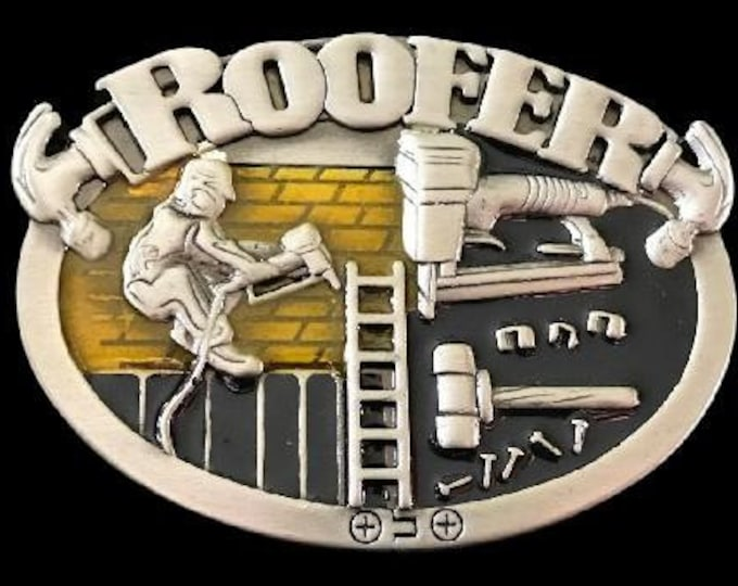 Roofer Belt Buckle Construction Worker Roofer Equipment Boucle De Ceinture