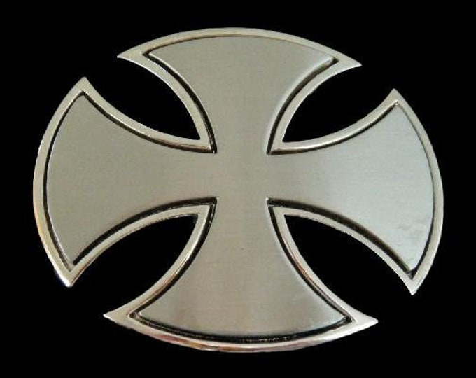 Iron Maltese Irish Celtic Crusade Cross Belt Buckle