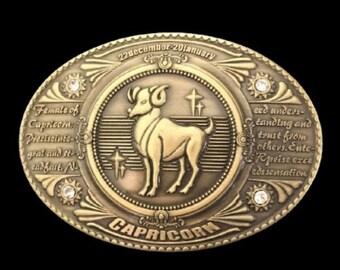 Capricorn Horoscope Zodiac Sign Women/'s Belt Buckle Belts Buckles
