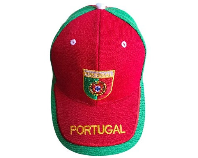 New Portugal Portuguese Flag Red N Green Sports Soccer Cap