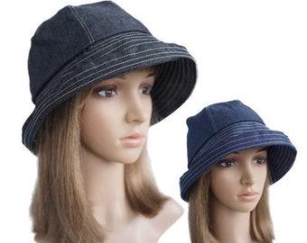 Women's Anti-UV Fashion Wide Brim Summer Beach Cotton Sun Bucket Hats
