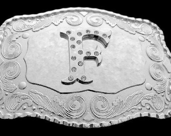 Letter F Initial Monogram Name Initials Letters Alphabet Belt Buckle Buckles