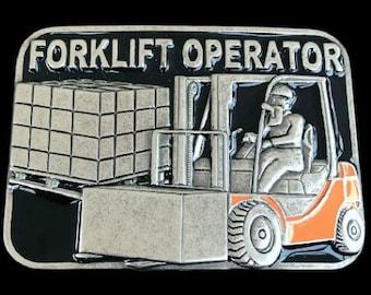 Forklift Operator Warehouse Fork Lift Occupational Belt Buckle