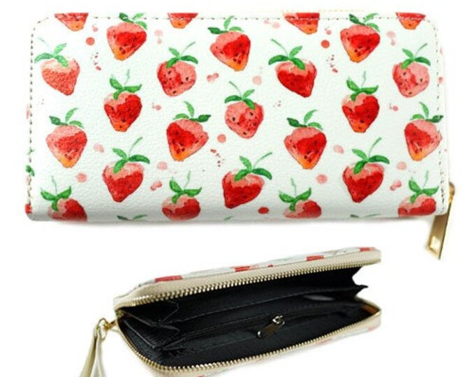 Strawberry Strawberries Fruit Fashion Women's Zipper Clutch Wallet