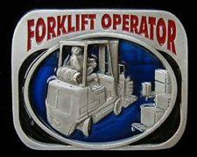 Forklift Operator Industrial Truck Tool Pewter Profession Belt Buckle