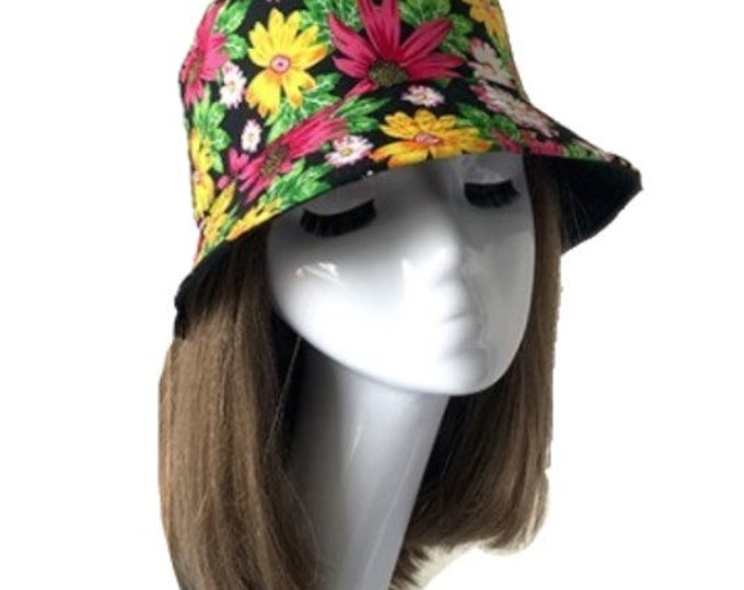 Floral Flower Colorful Bucket Hat Cap Hip Hop Fishing Fisherman Unisex Hats