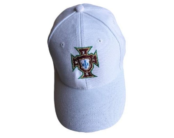 Portuguese Soccer Portugal Selecao Portuguesa Quinas White Caps Hats