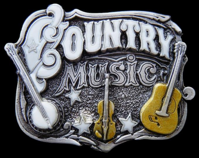 Country Music Belt Buckle Square Dance Banjo Violin Guitar Western Belts & Buckles