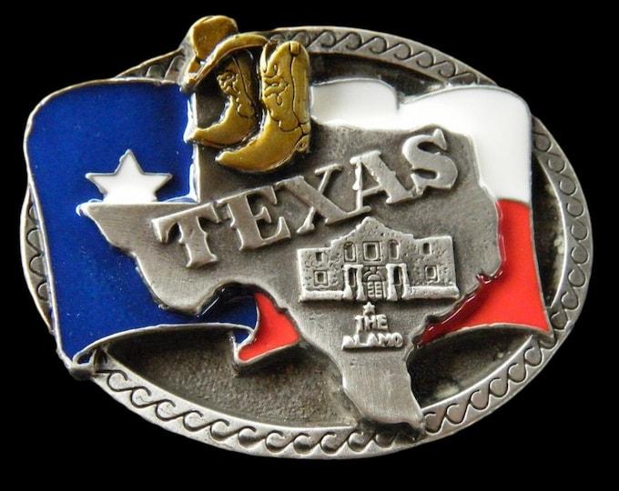 Texas Southern State Star Longhorns Map Alamo Belt Buckle