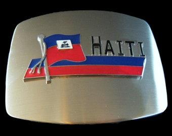 Haiti Port Au Prince Haitian Flag Belt Buckle Buckles