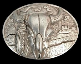 Cow Steer Belt Buckle Texas Bull Horns Longhorns Cowboy Western Belt Buckles Accessories