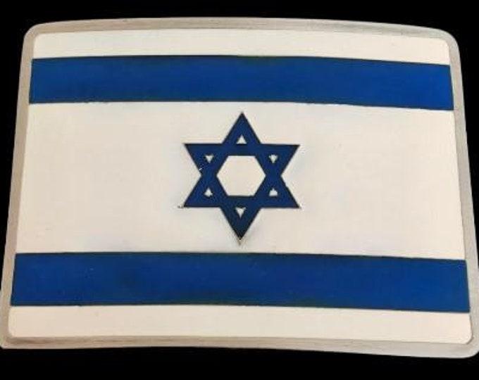 Israel Jewish Idish Aviv David Solomon Flag Belt Buckle