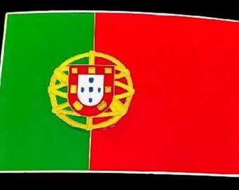 Portugal Portuguese Portuguesa Flag Belt Buckles Boucle de Ceinture Pays