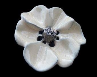White Blooming Flower Rose Petals Floral Belt Buckle Buckles