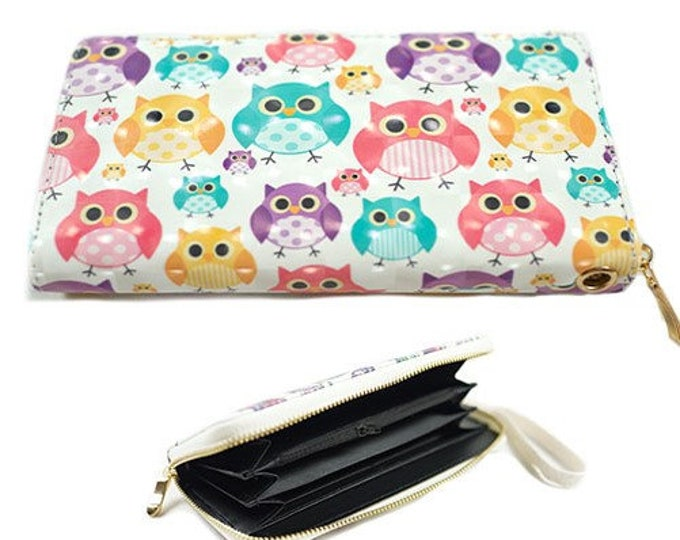 Colorful Owl Owls Fashion Women's Zipper Clutch Wallet