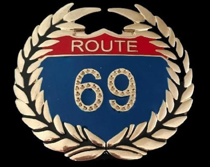 Route 69 Rt United States US Highways Rhinestones Belt Buckles Boucle Ceinture