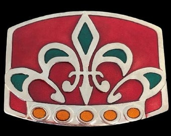 Quebec Patriots Fleur D'Lys Lis New Orleans Belt Buckle Buckles