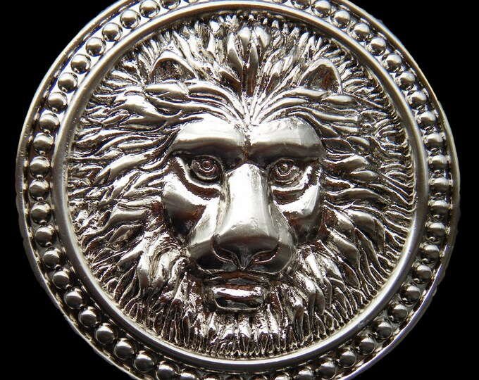 Lion Head Roman Fountain Lions Wild Animals Circus Big Belt Buckle Buckles