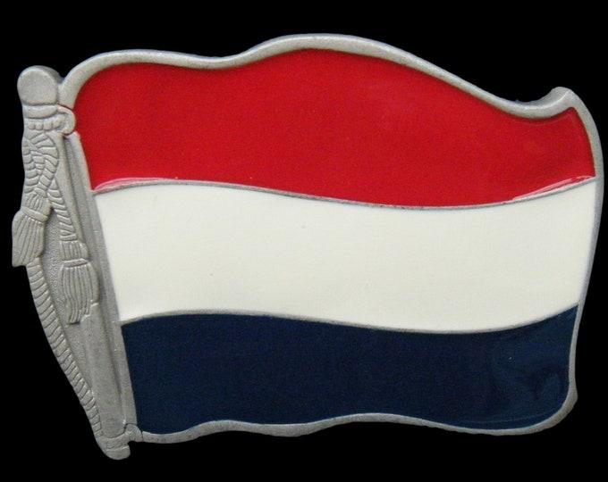 Holland Dutch World Country Flag Big Belt Buckle Boucle de Ceinture