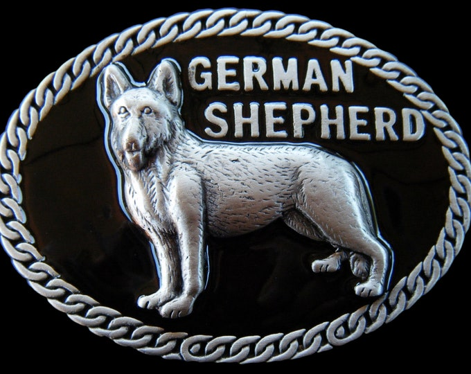 German Shepherd Pet Dog Animal Chain Belt Buckle Buckles