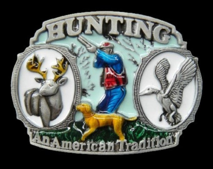 Hunting Hunter An American Tradition Belt Buckle Boucle de Ceinture