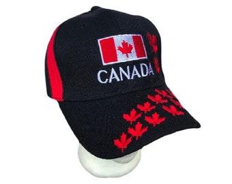 Canada Flag Baseball Ball Hat Cap Maple Leaf Leaves Casquette