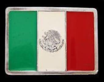 Mexican Flag Belt Buckle Mexico Flags City Cancun Souvenir Belts & Buckles