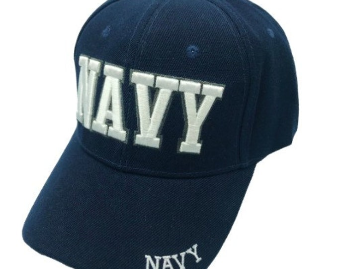 Navy Adjustable One Size Fits All Baseball Embroidered Cap Hat