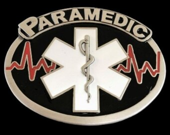 Paramedic Ambulance EMT Medical Profession Belt Buckle