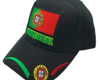 Portugal Portuguese Adjustable One Size Fits All Baseball Embroidered Cap Hat