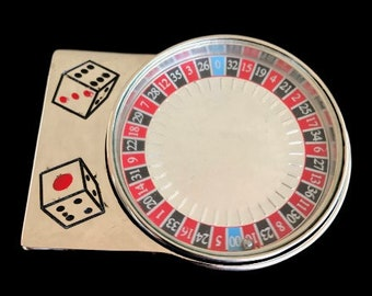 Spinning Roulette Wheel Casino Las Vegas Gambling Gambler Belt Buckle Buckles