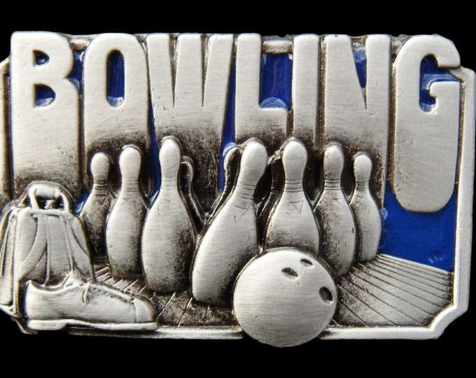 Bowling Alley Game Pins Bag Shoes Ball Sports Belt Buckle Buckles