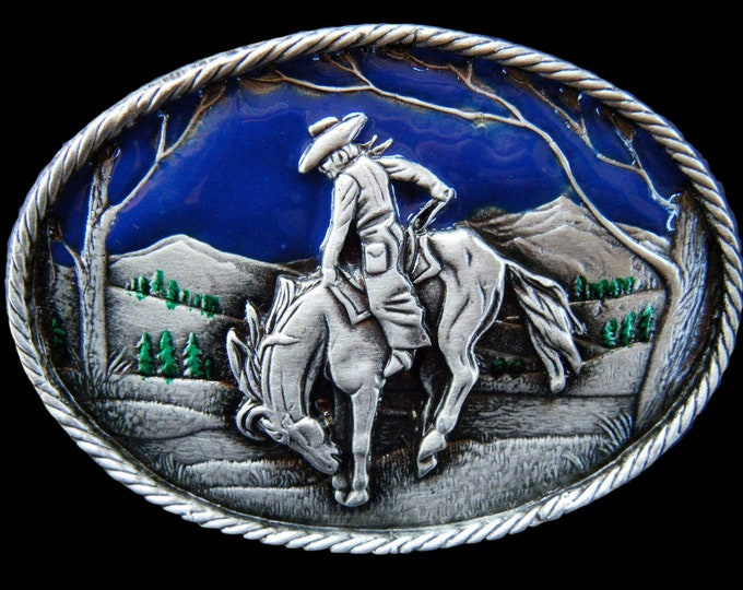 Rodeo Cowboy Cowgirl Horse Rider Western Belt Buckle