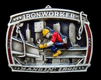 Iron Worker Ironworker Metal Construction Building Trade Belt Buckle Buckles