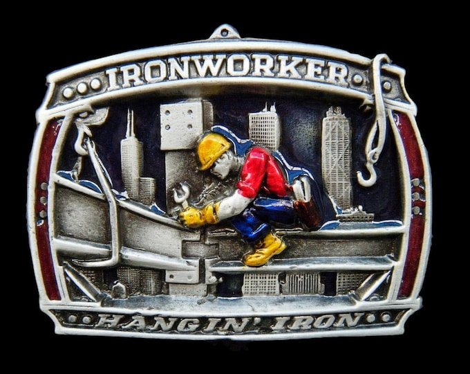 Iron Worker Ironworker Metal Construction Building Trade Belt Buckle Buckles