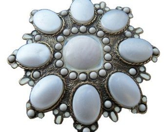 White Classy Blooming Rhinestone Flower Floral Belt Buckle Buckles