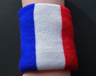 France Country Flag Soccer Wristban