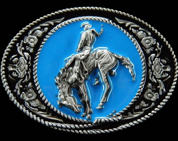 Horse Rider Cowboy Cowgirl Western Horse Belt Buckle Buckles