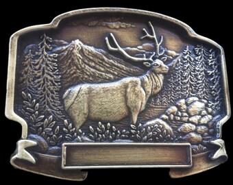 Canada Hunter Hunting Big Game Sports Elk Moose Belt Buckle