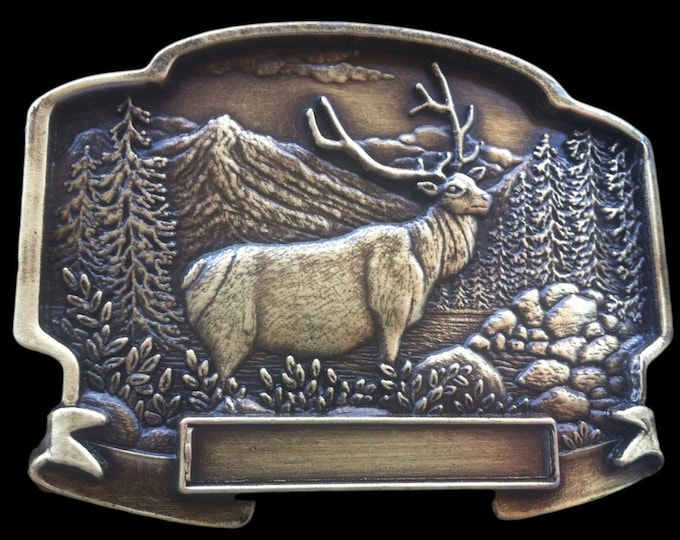 Canada Hunter Hunting Big Game Sports Elk Moose Belt Buckle