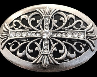 Celtic Irish Maltese Iron Floral Cross Western Cowgirl Rodeo Belt Buckle Buckles