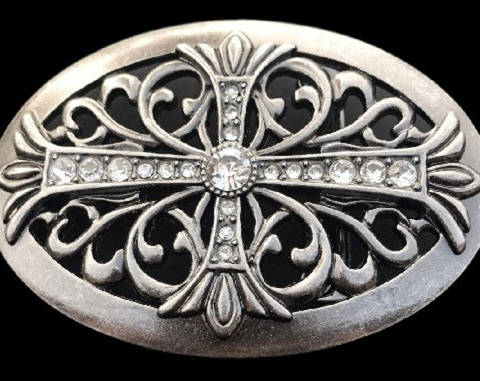 Celtic Irish Maltese Iron Floral Cross Western Cowgirl Rodeo Belt Buckle Buckles
