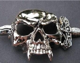 Skull Dagger Crossbones Skeleton Evil Sword Belt Buckle Belt Buckles