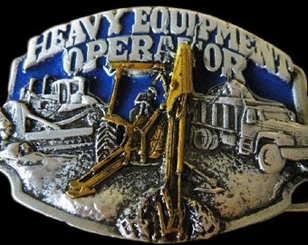 Heavy Equipment Operator Excavators, Bulldozers Profession Belt Buckle