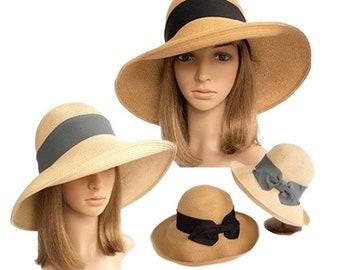 Summer Autumn Floppy Straw Hat Women Ladies Wide Brim Beach Hat Sun Foldable Cap