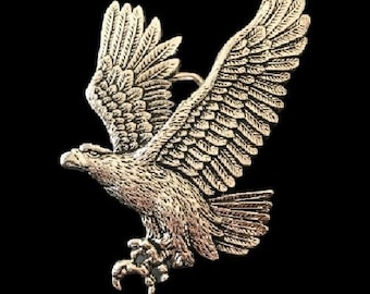 Flying American Bald Eagle Prey Wild Bird Belt Buckle
