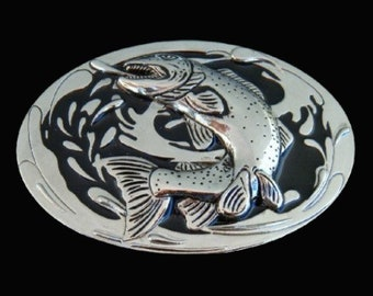 Fish Fishing Sport Trout Bass Lake Fishermen Belt Buckle Boucle De Ceinture