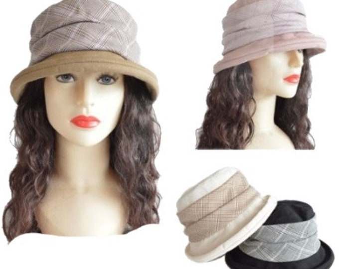 Women's Vintage Gatsby Style Bucket Cloche Beanies Beret Summer Hats