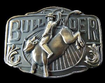 Bull Rider Western Cowboy Rodeo Belt Buckle